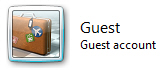 Default Guest Account in Windows 7