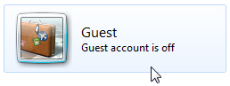 Disabled Guest Account in Windows 7