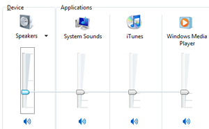Adjust the system volume and sounds in Windows 7