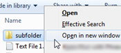 Manually open a folder in a new window