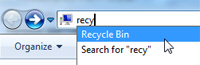 Open the Recycle Bin