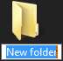 Windows 7 creates new folder on the desktop