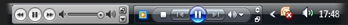 iTunes and Windows Media Player on Windows Vista's taskbar